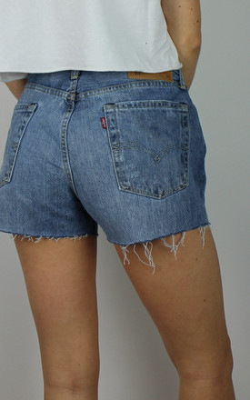 Vintage Levi's Classic Blue Denim Shorts W Red Tab Back by Re:dream Vintage Product photo