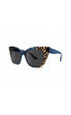GOZO Cat Eye Sunglasses in Blue/Leopard Print (RR47-1) by Ruby Rocks Sunglasses