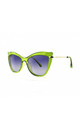 ISCHIA Cat Eye Sunglasses in Lime Green (RR48-1) by Ruby Rocks Sunglasses
