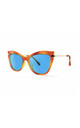 ISCHIA Cat Eye Sunglasses in Orange/Yellow (RR48-2) by Ruby Rocks Sunglasses