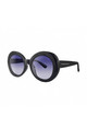 BORA BORA Chunky Round Sunglasses in Black (RR50-2) by Ruby Rocks Sunglasses
