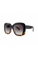 MONTSERRAT Chunky Square Sunglasses in Black/Tortoiseshell (RR51-1) by Ruby Rocks Sunglasses