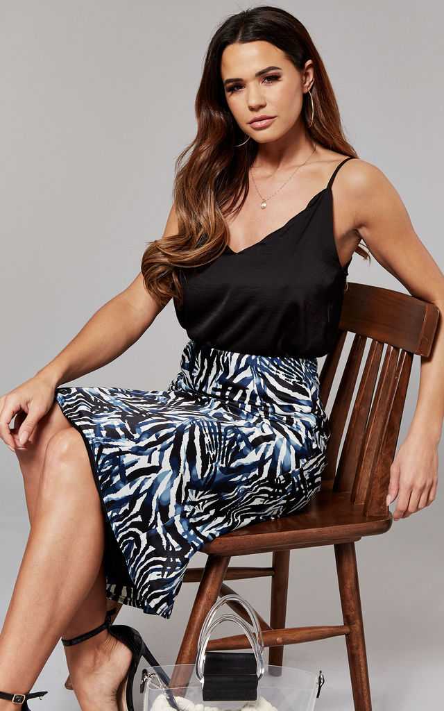 Cami Top with scallop neckline in black by ONLY