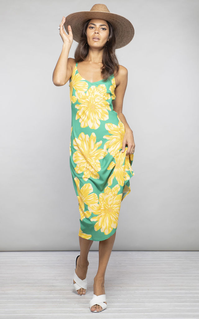Jade Dress Yellow and Green Bloom image