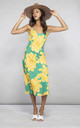 Jade Dress Yellow and Green Bloom by Dancing Leopard