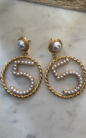 JOJO Pearl Number 5 Earrings by It's Me Not You