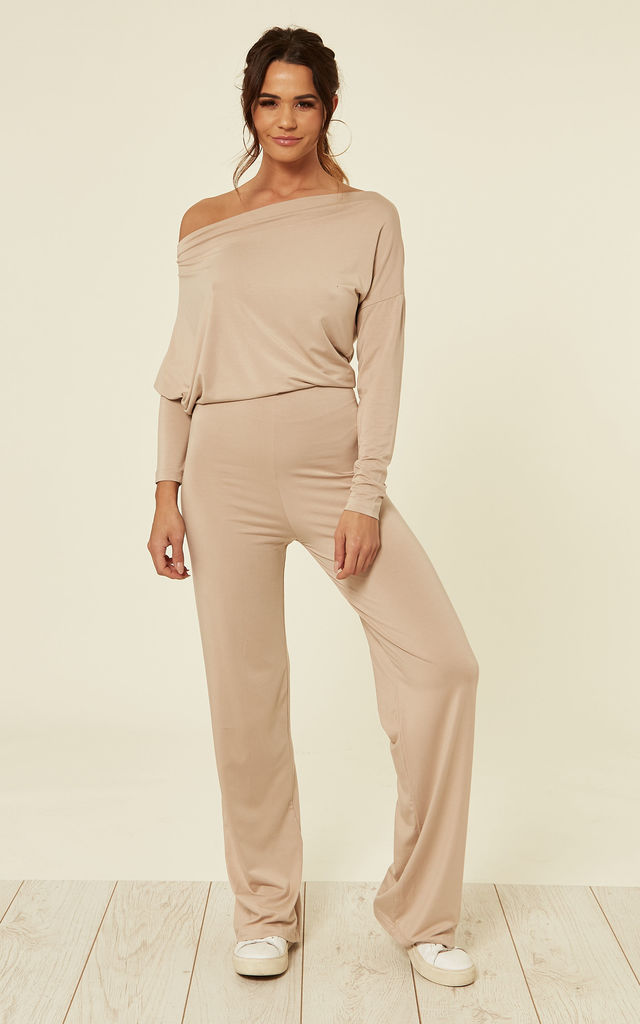 790c97ec579 Florence Long Sleeve Jumpsuit In Nude By JAYDE London