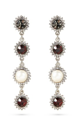 Swarovski Long Drop Earrings With Sterling Silver Posts by With Bling Product photo