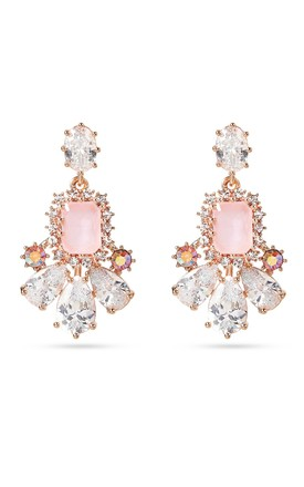 Chandelier Pink Cz Earrings With Sterling Silver Posts by With Bling Product photo