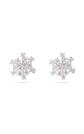 Snowflake Stud Earrings, Sterling Silver Posts by With Bling Product photo