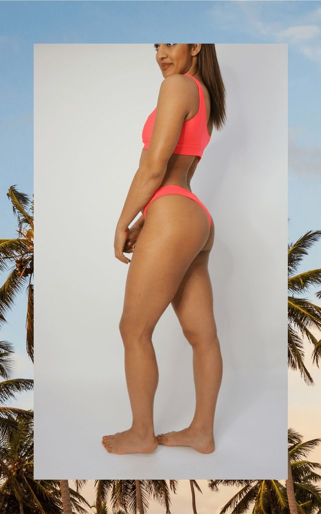 Pink/Coral basic bikini by Unscripted