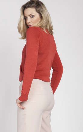 Sweater with long sleeves- coral by MKM Knitwear Design