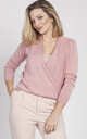 Sweater with long sleeves- pink by MKM Knitwear Design