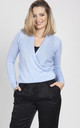 Sweater with long sleeves- sky blue by MKM Knitwear Design