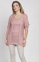 Openwork cape, pink by MKM Knitwear Design