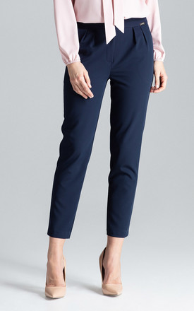 Navy Cigarillo Trousers by LENITIF