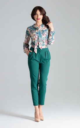 Green Cigarillo Trousers by LENITIF