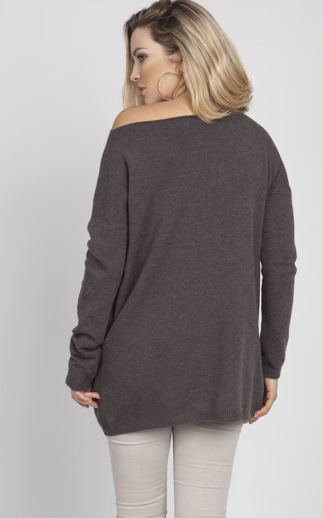 Oversize sweater - graphite by MKM Knitwear Design