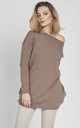 Oversize sweater - mocca by MKM Knitwear Design