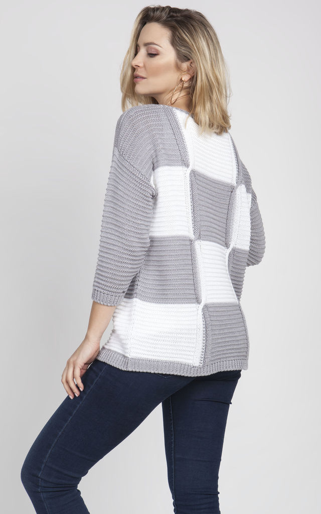 Oversized sweater - grey/white by MKM Knitwear Design