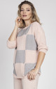 Oversized sweater - pink/grey by MKM Knitwear Design