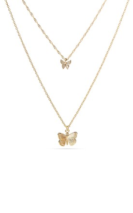 Gold Layered Butterfly Necklace by With Bling Product photo