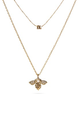 Gold Layered Bee Necklace by With Bling Product photo