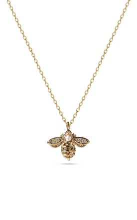 Gold Bee Single Chain Necklace by With Bling Product photo