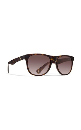 District Wayfarer Sunglasses In Brown/Gold Javaswirl by NOTINLOVE Product photo