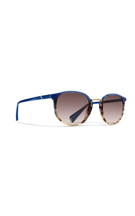 Harbour Round Sunglasses In Tigersky Tortoiseshell/Blue by NOTINLOVE Product photo