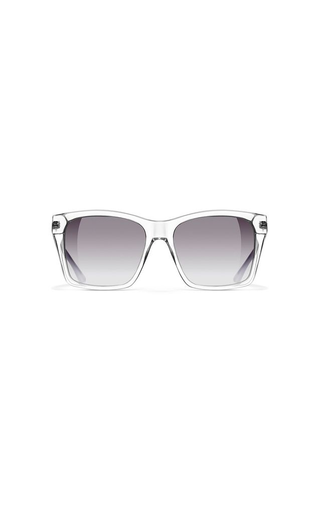 Valley Rectangle Sunglasses in Chromio Grey/Black by NOTINLOVE