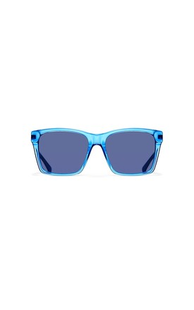Valley Rectangle Sunglasses in Electraglide Blue/Silver by NOTINLOVE