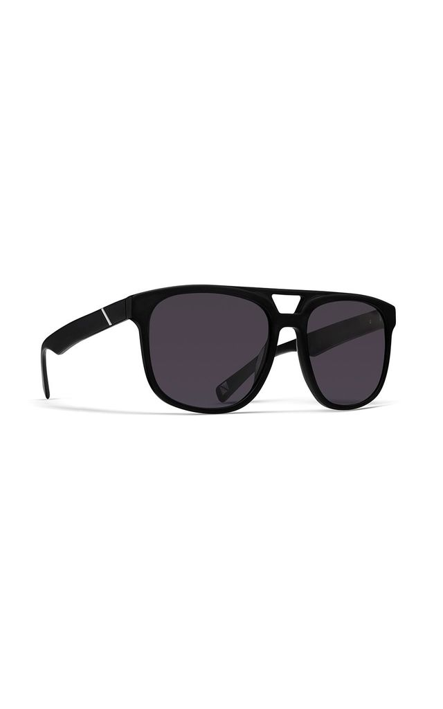 Highrise Square Sunglasses in All Black by NOTINLOVE