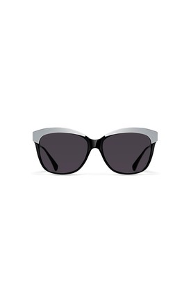 Hollywood Cat Eye Sunglasses in Moonlight Black/Grey by NOTINLOVE