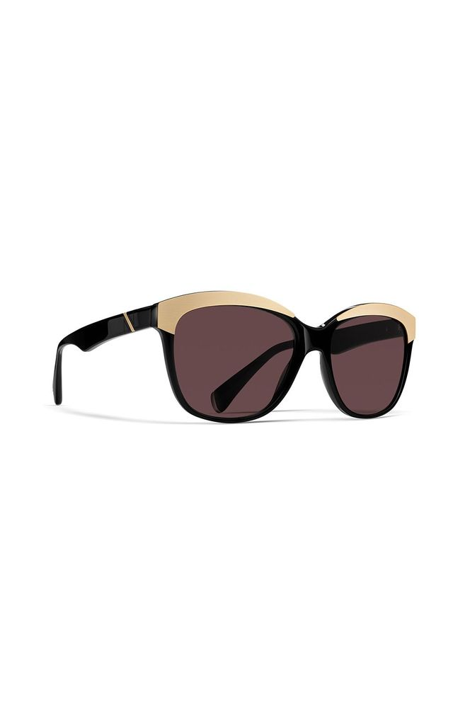 Hollywood Cat Eye Sunglasses in Glow Black/Gold by NOTINLOVE