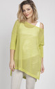 Openwork sweater in lime by MKM Knitwear Design