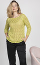 Knitwear blouse with a raglan sleeve - lime by MKM Knitwear Design
