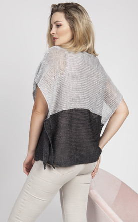 Light cape - grey/graphite by MKM Knitwear Design
