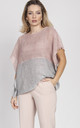 Light cape - pink/grey by MKM Knitwear Design