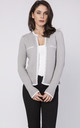 Cardigan with contrasting pipping in grey by MKM Knitwear Design