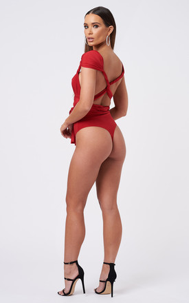 Red Multiway Bodysuit by Club L London
