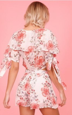 White Floral Print Co-ord by Hachu