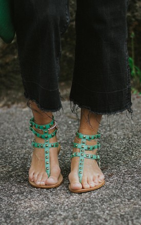 PERSEFONE GREEN SUMMER SANDALS by Artemisia