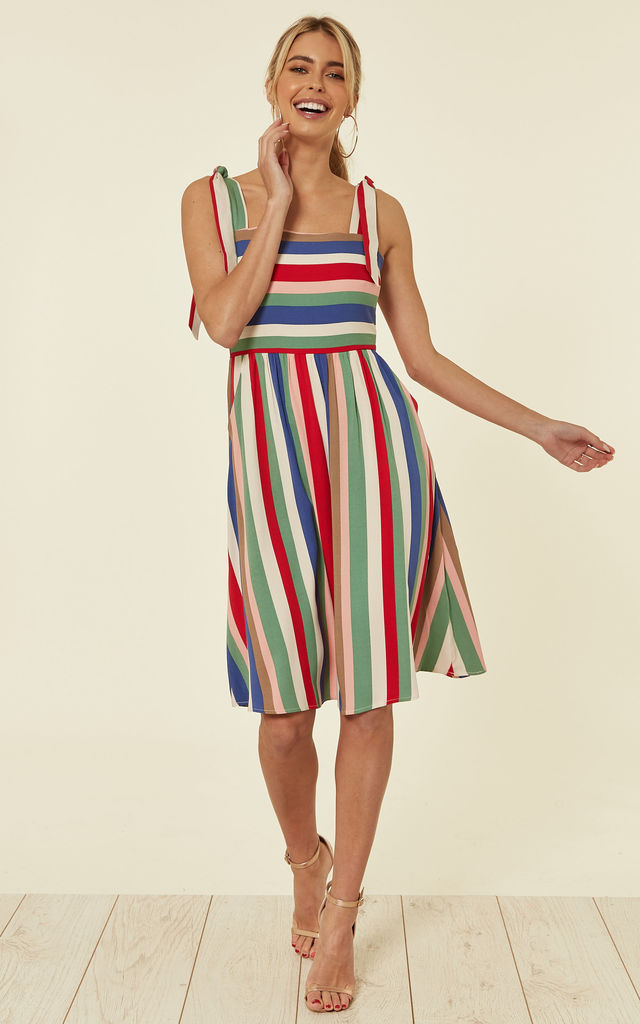 b6c0bff9b48 MIRIAM CABANA SUNDRESS WITH TIE STRAPS in MULTI COLOUR STRIPE by SUGARHILL  BRIGHTON