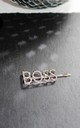 Silver Boss word diamante hair clip crystal hairslide by Kate Coleman