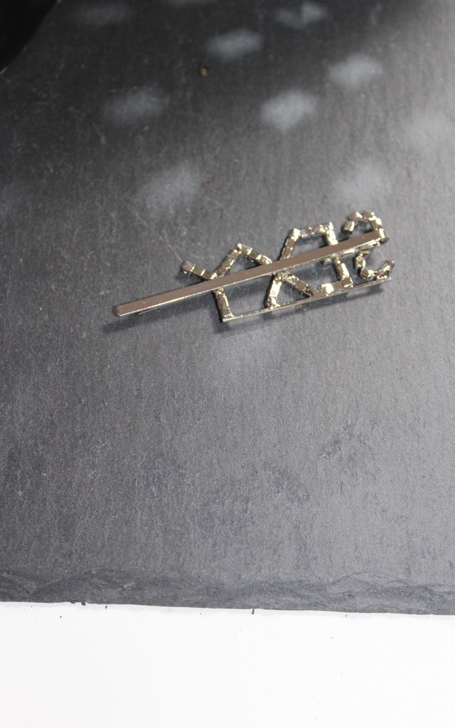Silver sexy diamante hair clip crystal hairslide by Kate Coleman