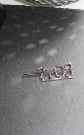Gold BOYS diamante hair clip crystal hairslide by Kate Coleman