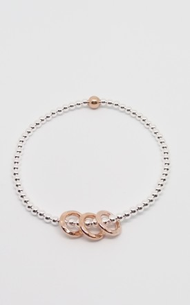 30th Birthday! Sterling Silver & Rose Gold Decade Bracelet by Kelly England Handmade Jewellery
