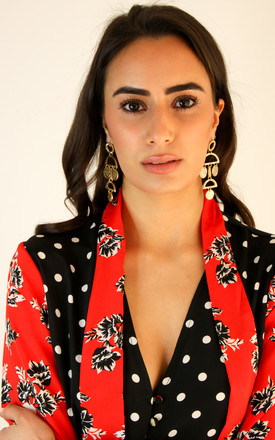 Statement Earrings in Gold by FreeSpirits