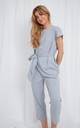 Eliza Jumpsuit - Grey by Pretty Lavish